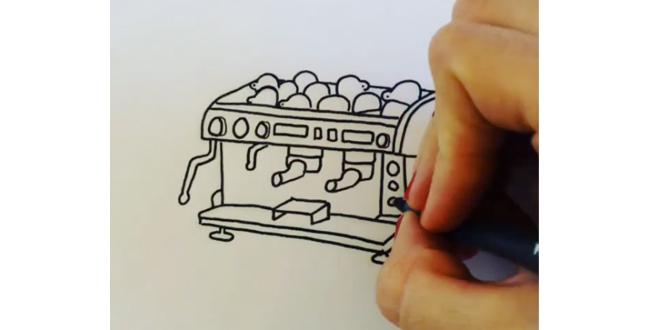 Arte latte en video de Instagram, ¡en stop motion!