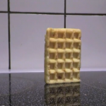 waffle que se cae