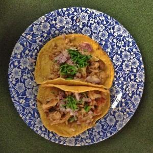 Tacos de lechón