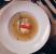 Sopa de poros y espárragos con raviol de jocoque y zanahoria